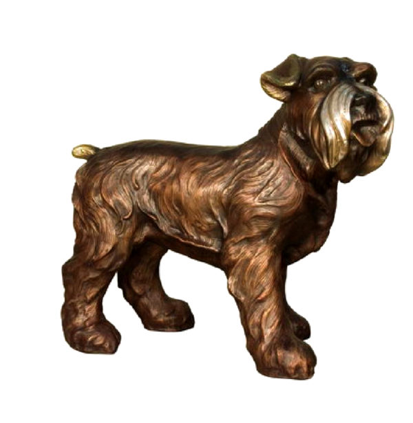 SRB081169 Bronze Terrier Dog Sculpture Metropolitan Galleries Inc.