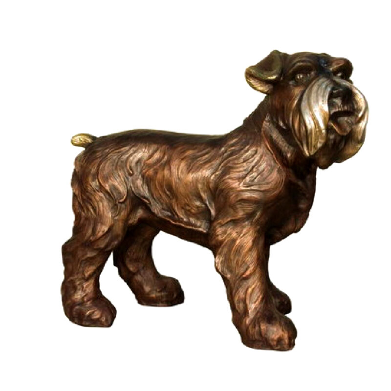 SRB081169 Bronze Terrier Dog Sculpture Metropolitan Galleries Inc.