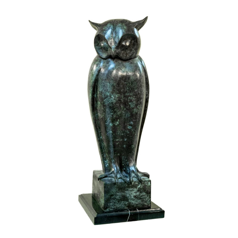 SRB094533 Bronze Owl Sculpture Metropolitan Galleries Inc.