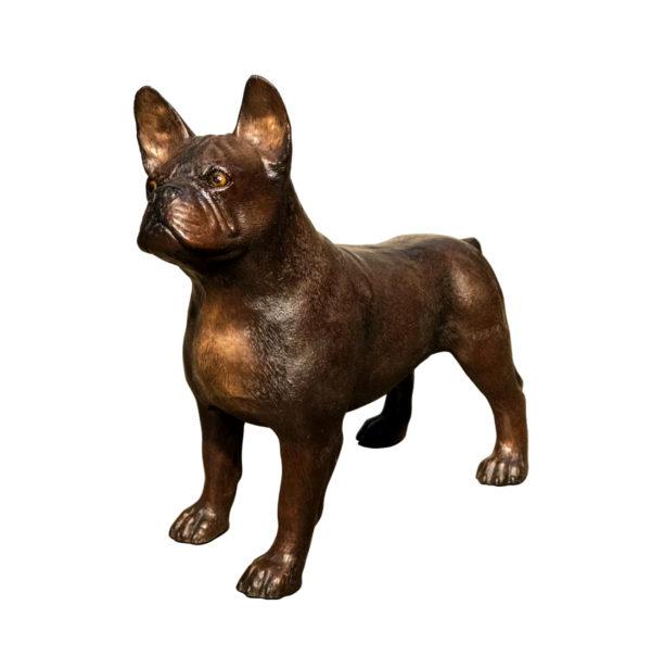 SRB094566 Bronze Dog Sculpture Metropolitan Galleries Inc.