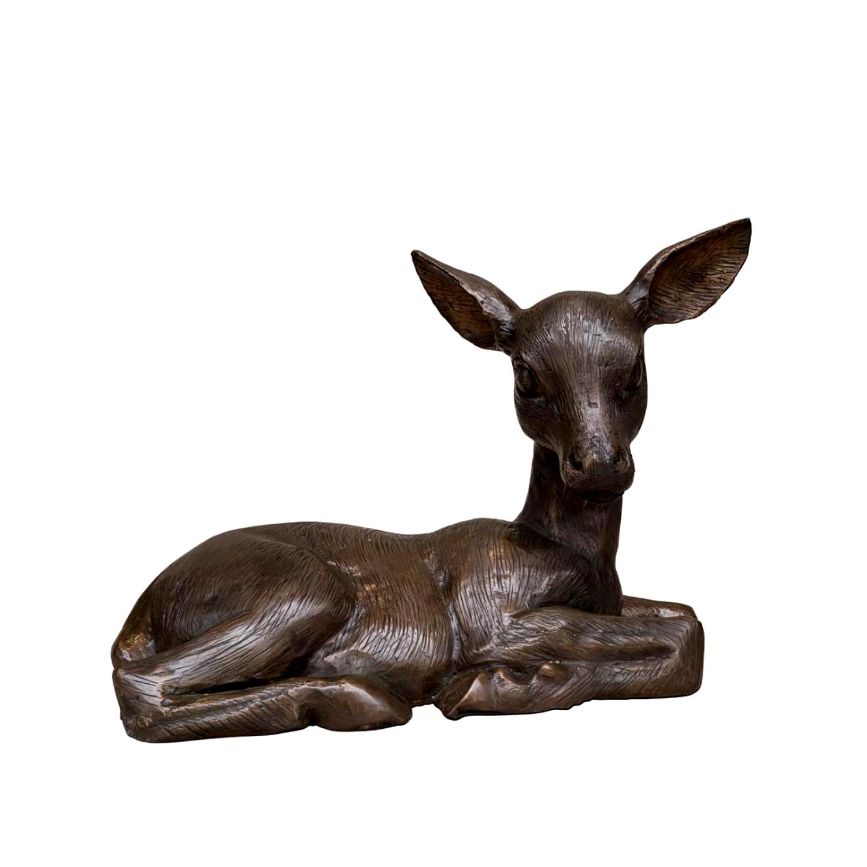 SRB097022 Bronze Baby Fawn Sculpture Metropolitan Galleries Inc.