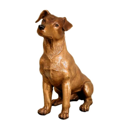 SRB028777 Bronze Jack Russell Dog Sculpture Metropolitan Galleries Inc.