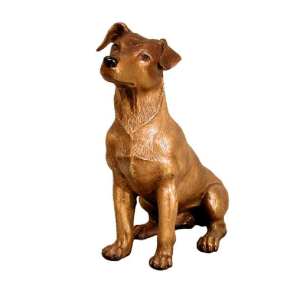 SRB028777 Bronze Jack Russell Dog Sculpture Metropolitan Galleries Inc.