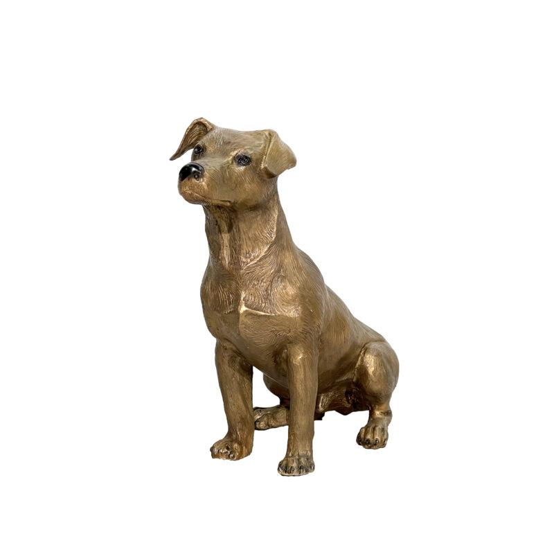 SRB028777 Bronze Jack Russell Dog Sculpture by Metropolitan Galleries Inc
