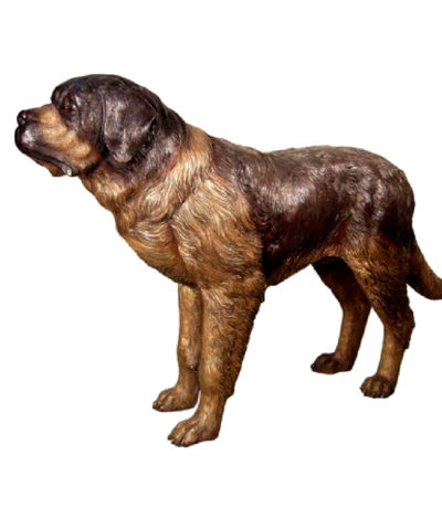 SRB028800 Bronze Saint Bernard Dog Sculpture Metropolitan Galleries Inc.