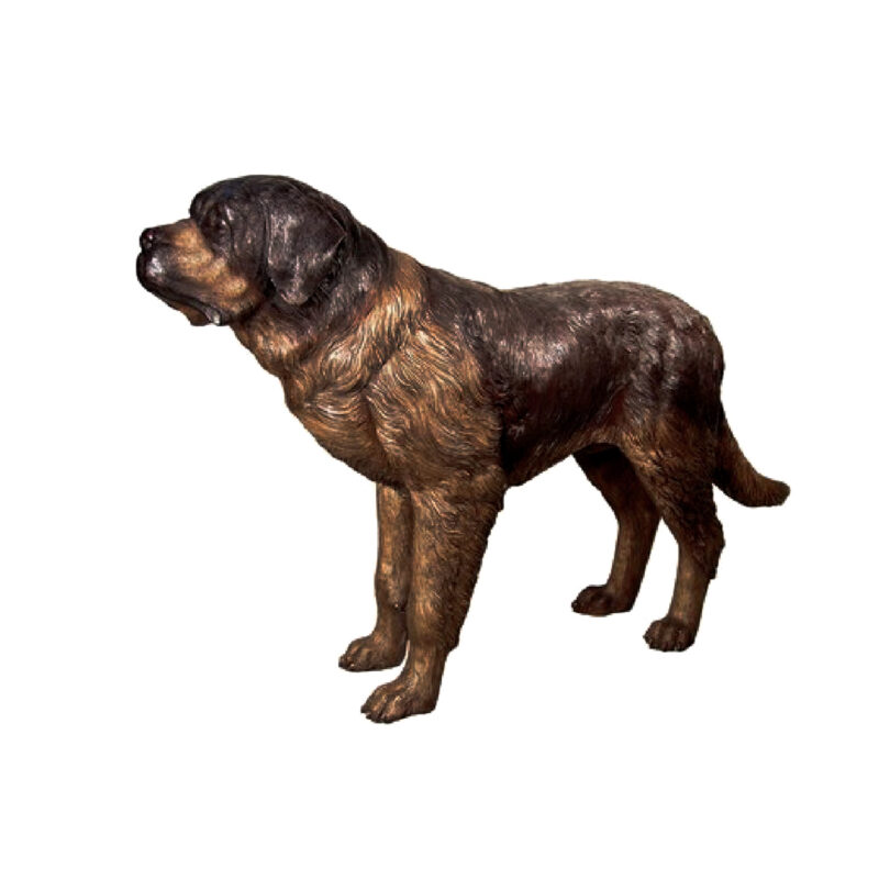 SRB028800 Bronze Saint Bernard Dog Sculpture by Metropolitan Galleries Inc
