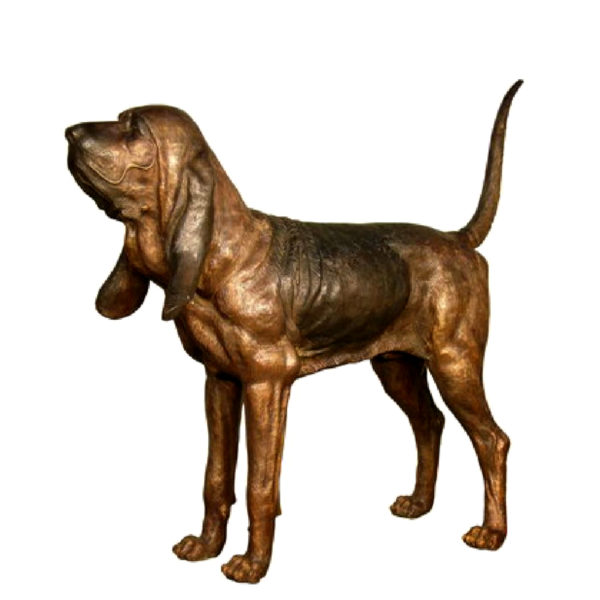 SRB029482 Bronze Bloodhound Dog Sculpture Metropolitan Galleries Inc.