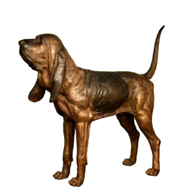SRB029482 Bronze Bloodhound Dog Sculpture Metropolitan Galleries Inc.
