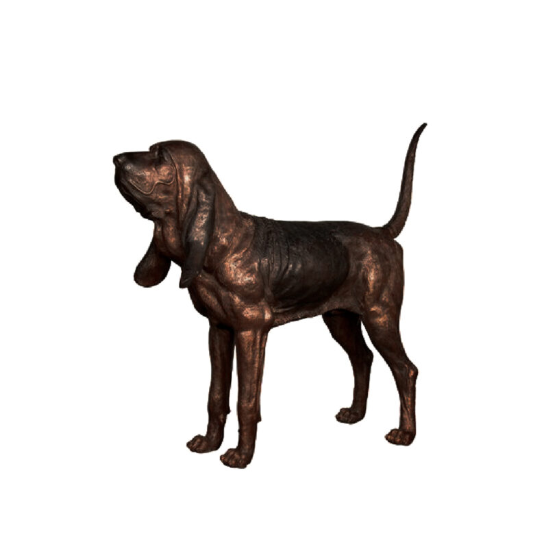 SRB029482 Bronze Bloodhound Dog Sculpture by Metropolitan Galleries Inc