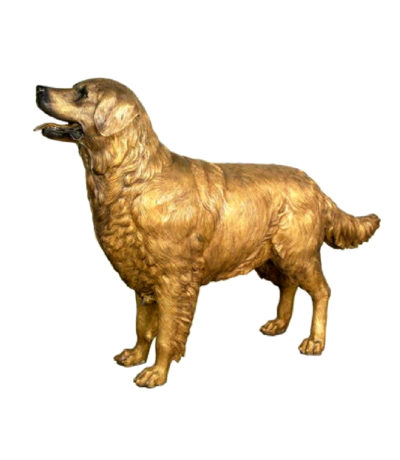 SRB029484 Bronze Golden Retrieve Sculpture Metropolitan Galleries Inc.