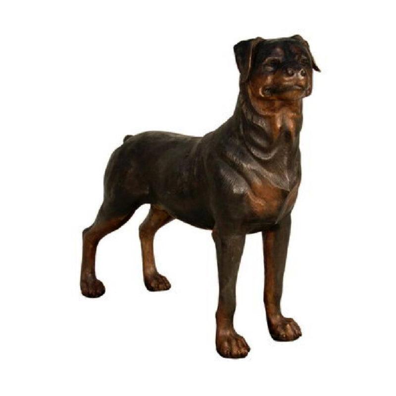 SRB050317 Bronze Dog Sculpture Metropolitan Galleries Inc.