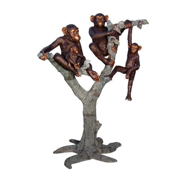SRB057332 Bronze Monkeys in Tree Sculpture Metropolitan Galleries Inc.