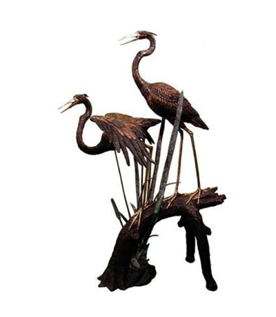 SRB057358 Bronze Herons on Branch Sculpture Metropolitan Galleries Inc.