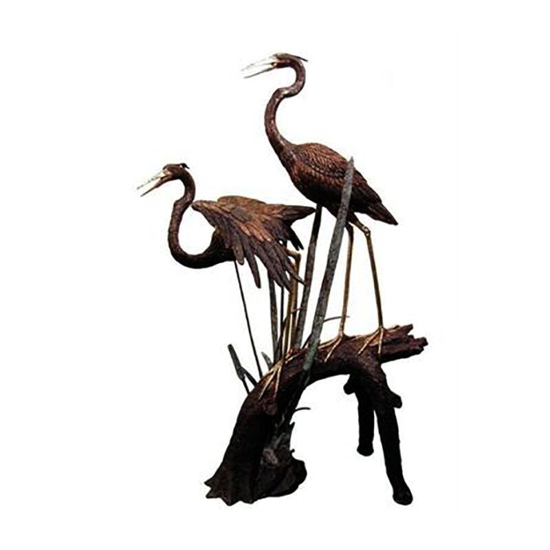 SRB057358 Bronze Herons on Branch Sculpture Metropolitan Galleries Inc.