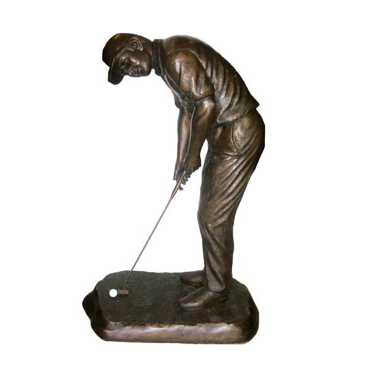 SRB701045 Bronze Male Golf Putter Sculpture Metropolitan Galleries Inc.SRB701045 Bronze Male Golf Putter Sculpture Metropolitan Galleries Inc.