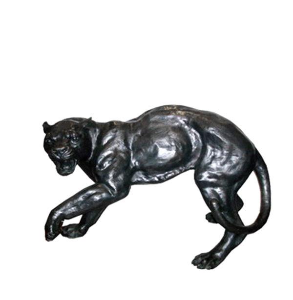 SRB702860-A Bronze Panther Sculpture (Left) Metropolitan Galleries Inc