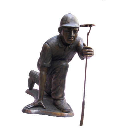 SRB705742 Bronze Golf Putter with Club Sculpture Metropolitan Galleries Inc.