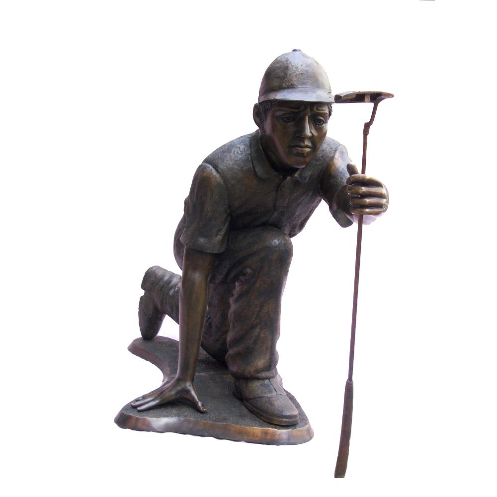 SRB705742 Bronze Golf Putter with Club Sculpture Metropolitan Galleries Inc.