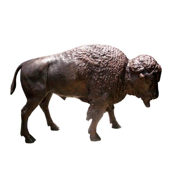 SRB706424 Bronze Bison Sculpture Metropolitan Galleries Inc