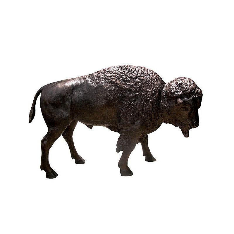 SRB706424 Bronze Bison Sculpture by Metropolitan Galleries Inc