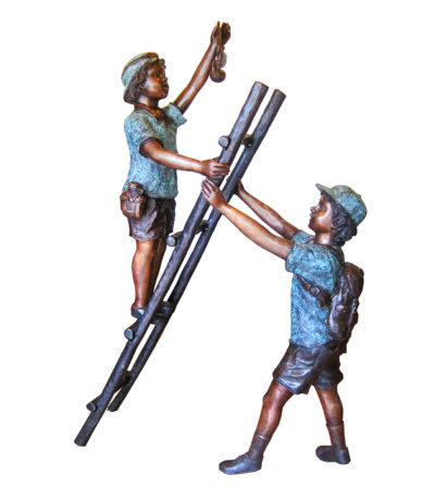 SRB706701 Bronze Children on Ladder Sculpture Metropolitan Galleries Inc.