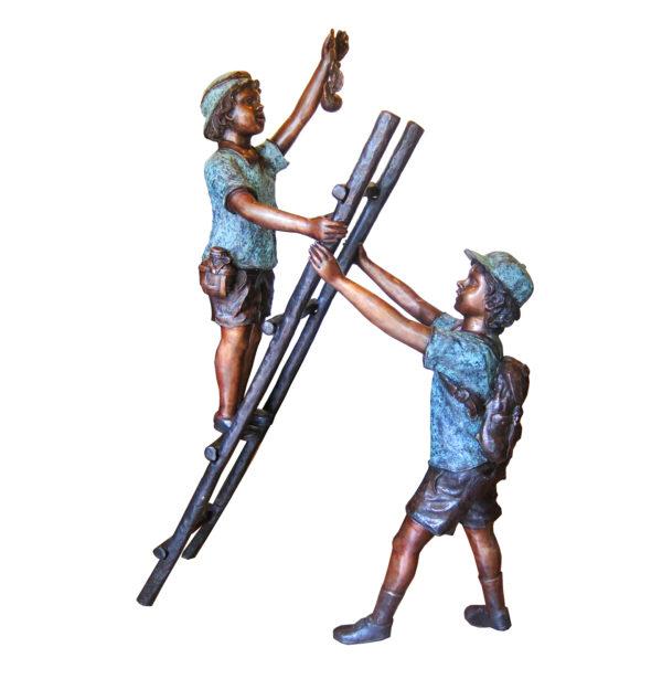 SRB706701 Bronze Children on Ladder Sculpture Metropolitan Galleries Inc.