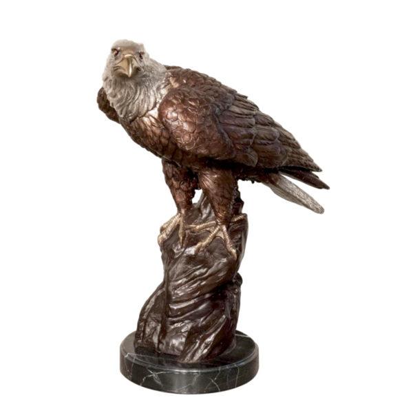 SRB047022 Bronze Eagle Sculpture on Marble Base Metropolitan Galleries Inc.