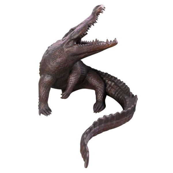 SRB055816 Bronze Large Crocodile Fountain Sculpture Metropolitan Galleries Inc.