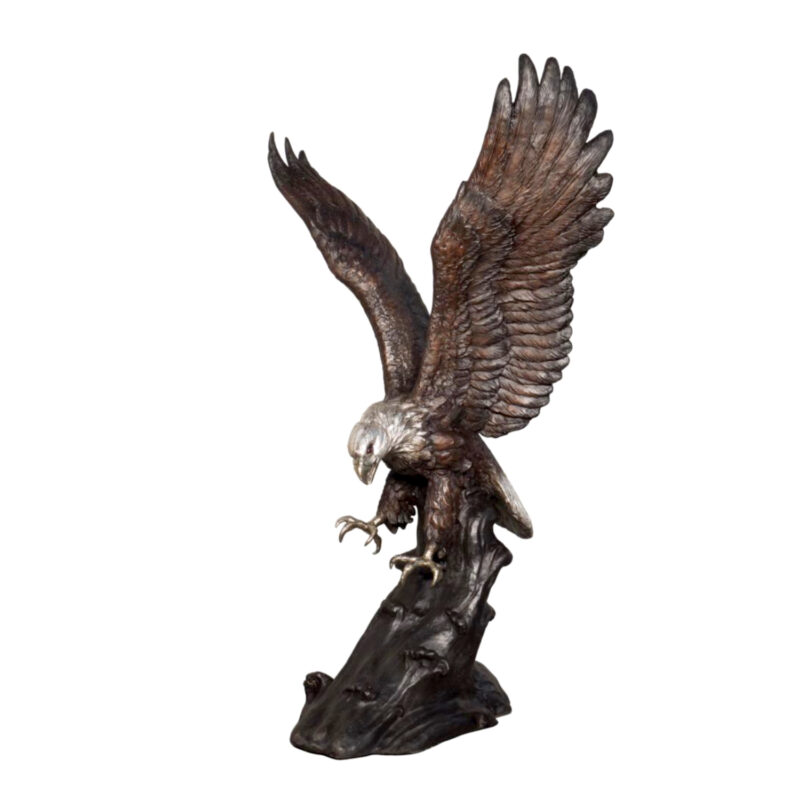 SRB055849 Bronze Eagle Sculpture Metropolitan Galleries Inc.