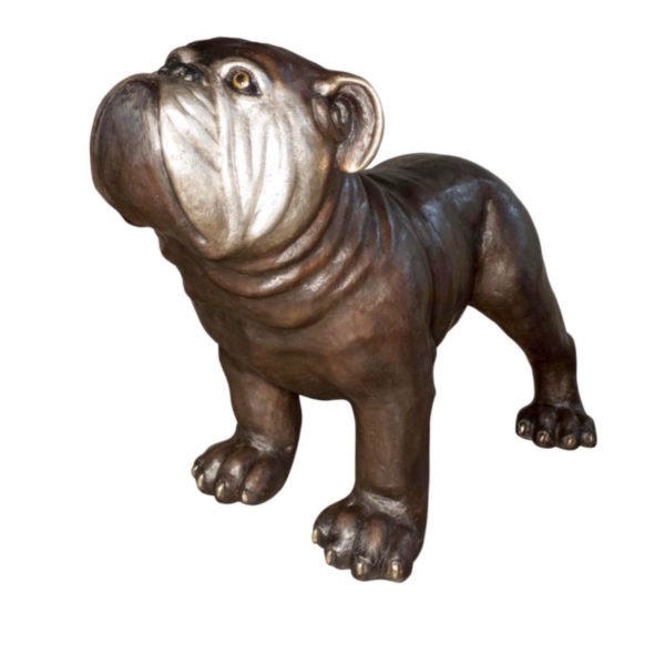 SRB056812 Bronze Bulldog Sculpture Metropolitan Galleries Inc.