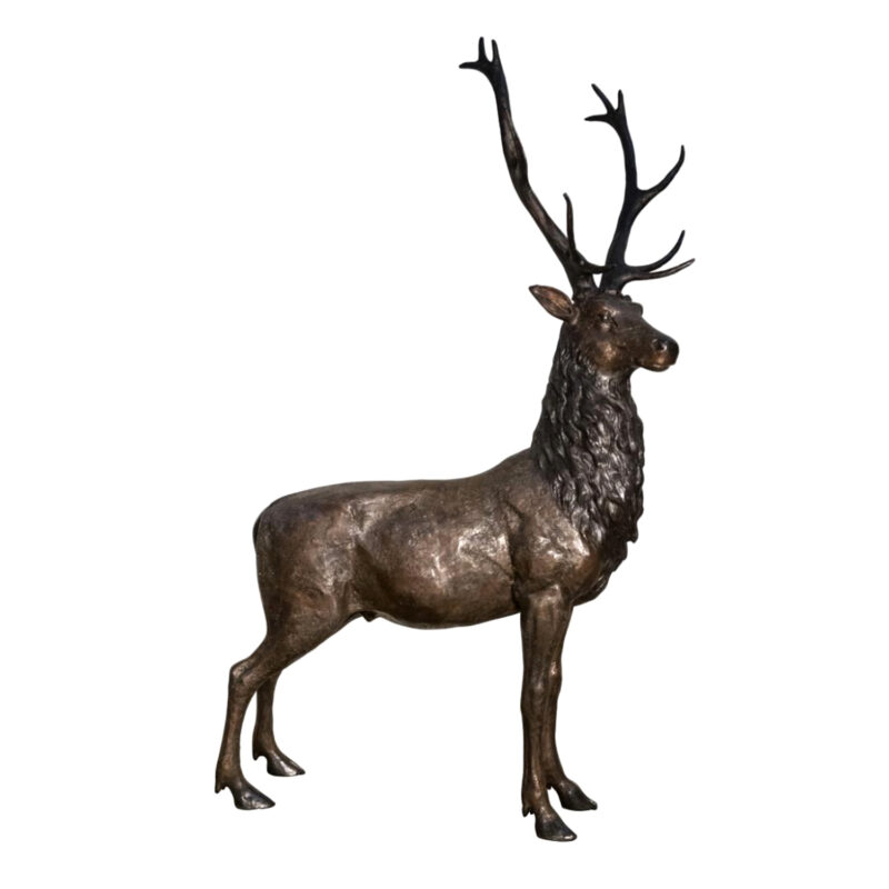SRB056832 Bronze Deer Sculpture Metropolitan Galleries Inc.