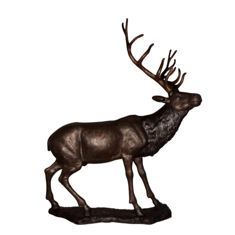 SRB086042 Bronze Standing Deer Sculpture Metropolitan Galleries Inc.