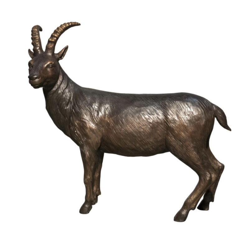 SRB094612 Bronze Goat Sculpture Metropolitan Galleries Inc.