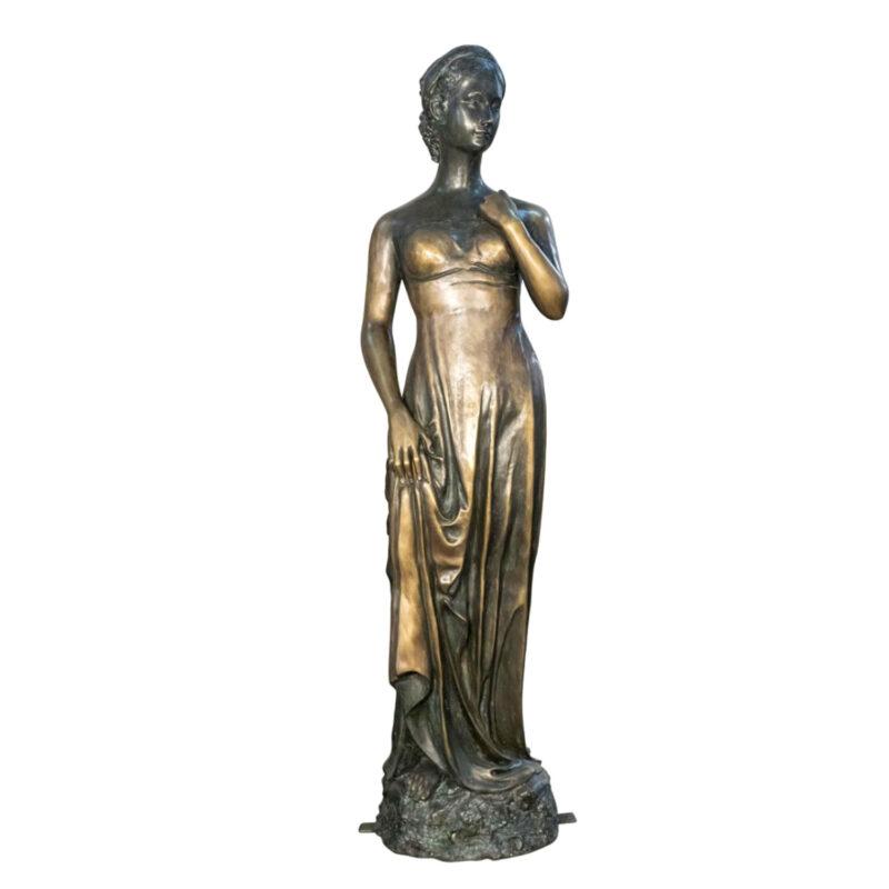SRB098196 Bronze Standing Lady Sculpture Metropolitan Galleries Inc.