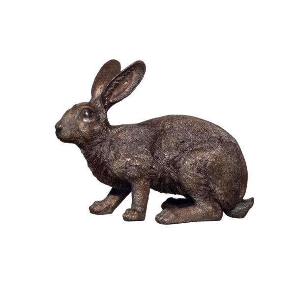 SRB098240 Bronze Rabbit Sculpture Metropolitan Galleries Inc.