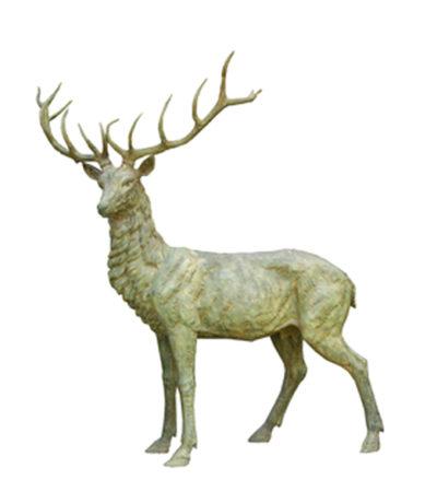 SRB703125 Bronze Elk Sculpture Metropolitan Galleries Inc.