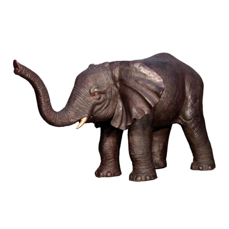 SRB028795 Bronze Medium Elephant Sculpture Metropolitan Galleries Inc.