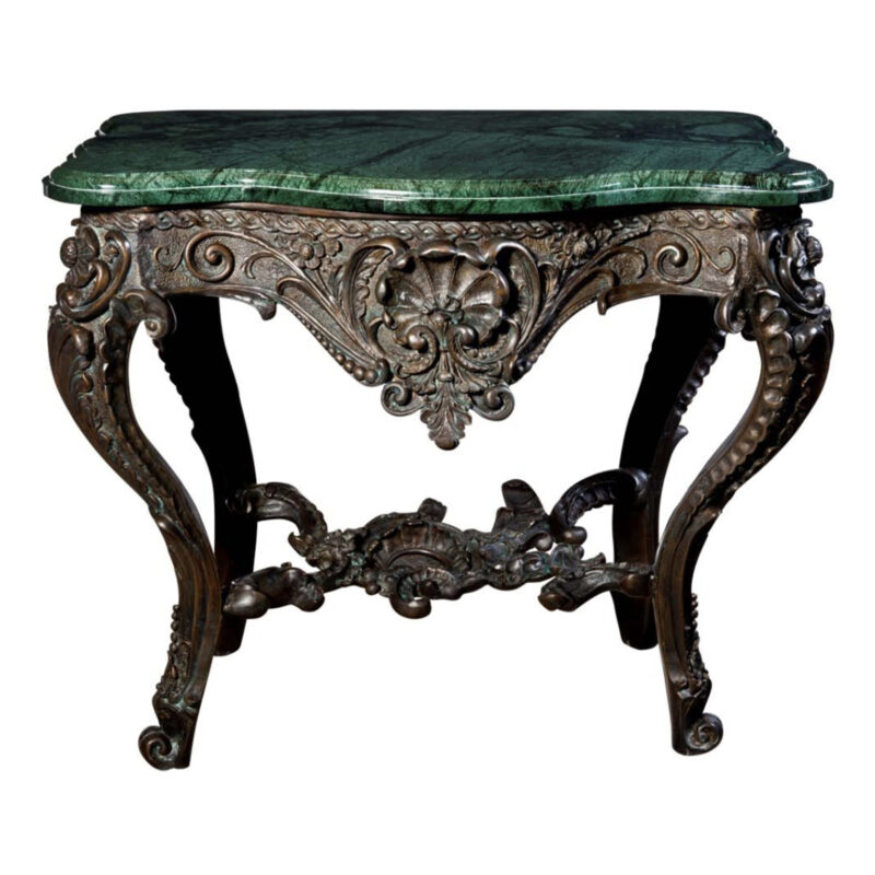 SRB88217 Bronze Console Table & Marble Surface Metropolitan Galleries Inc.