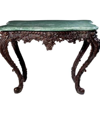 SRB88225 Bronze Console Table & Marble Surface Metropolitan Galleries Inc.