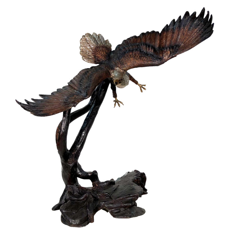 SRB081001 Bronze Large Swooping Eagle Sculpture by Metropolitan Galleries Inc