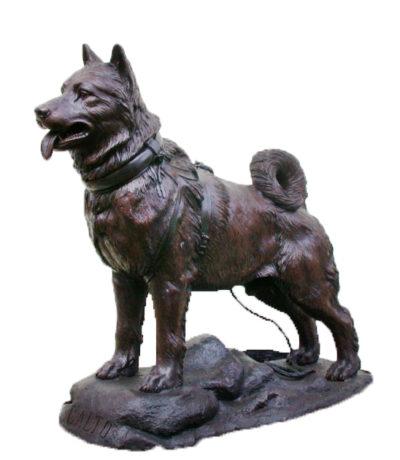 SRB47067 Bronze Balto Dog Sculpture Metropolitan Galleries Inc.