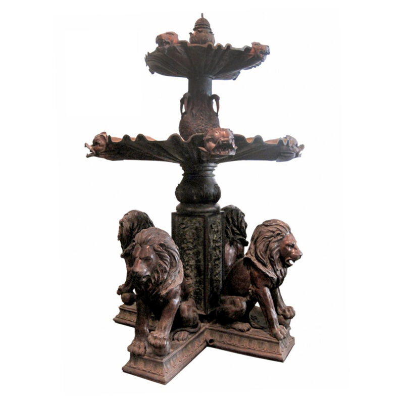SRB705393 Bronze Lions Tier Fountain Metropolitan Galleries Inc.