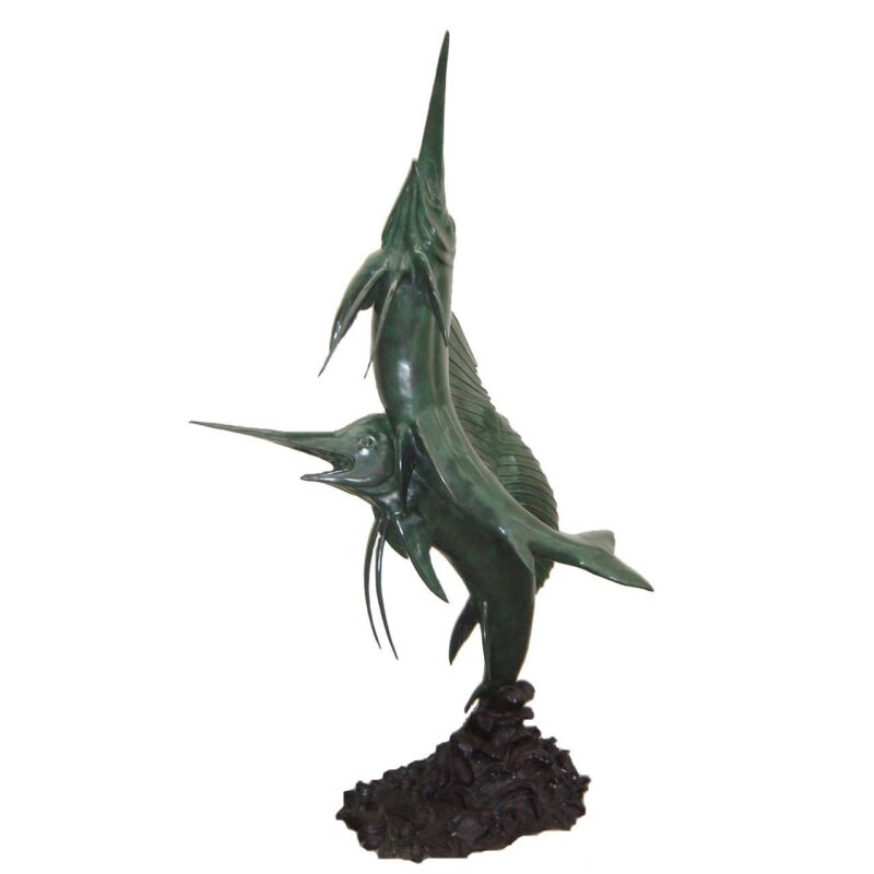 SRB705605 Bronze Sailfish Fountain Sculpture Metropolitan Galleries Inc.
