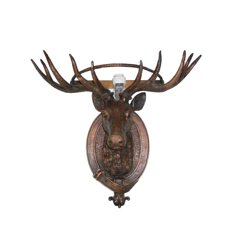 SRB705650 Bronze Deer Head Wall Sculpture Metropolitan Galleries Inc.