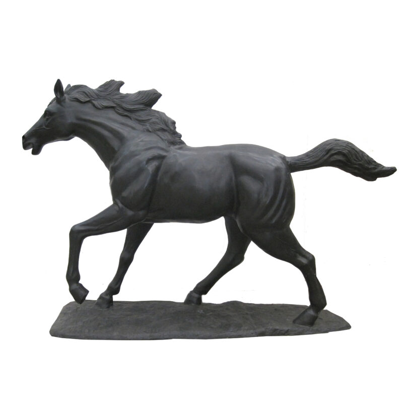 SRB707088 Bronze Running Horse Sculpture Metropolitan Galleries Inc.