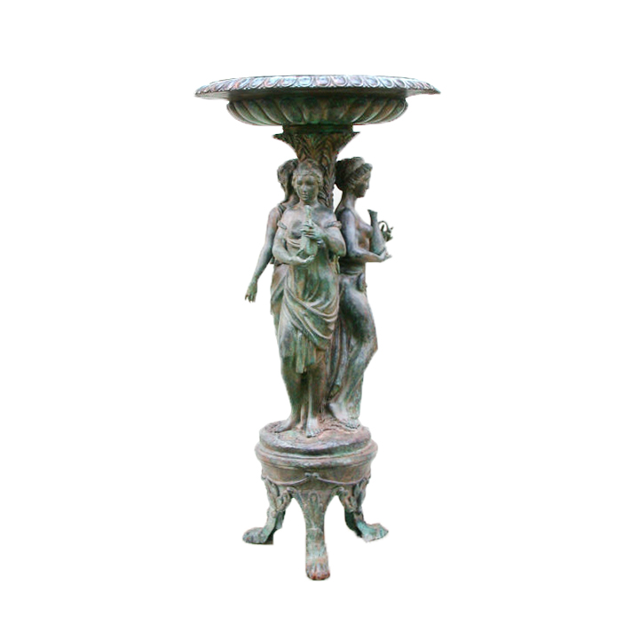 SRB53066 Bronze Three Ladies Fountain Sculpture Metropolitan Galleries Inc.