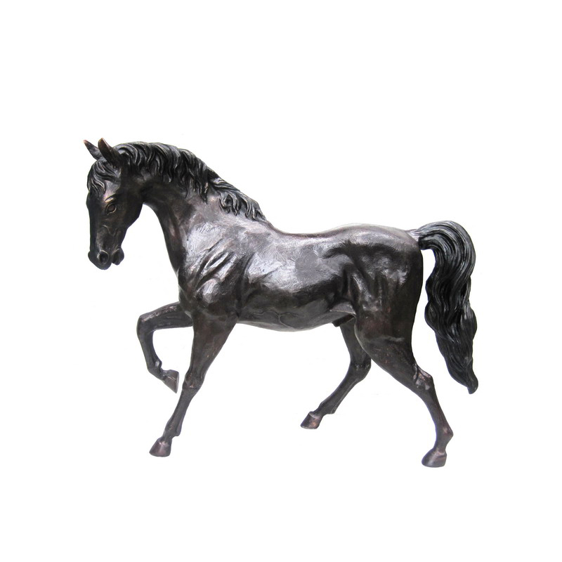 SRB701840 Bronze Trotting Horse Sculpture Metropolitan Galleries Inc