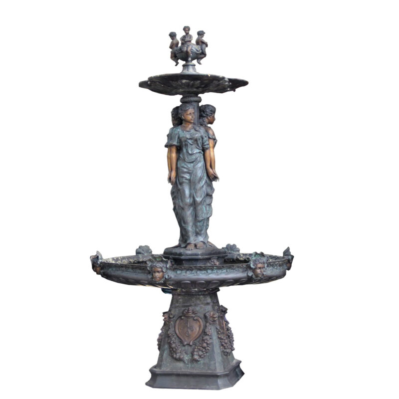 SRB705770 Bronze Three Ladies Tier Fountain Metropolitan Galleries Inc