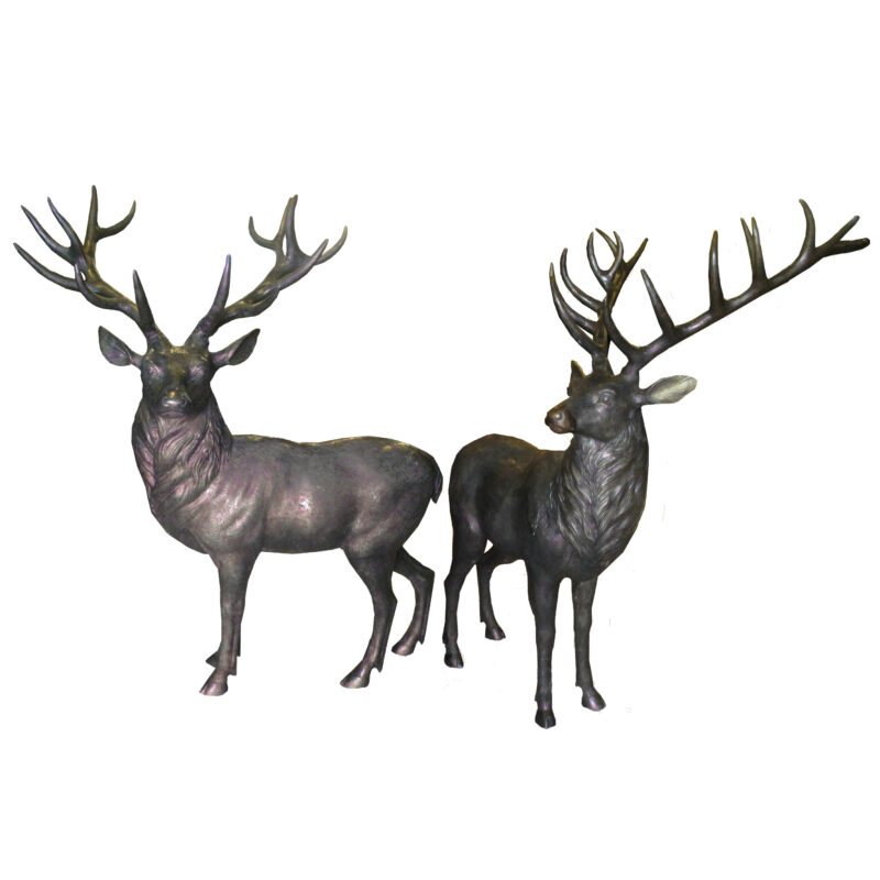 SRB706856AC Bronze Buck Sculpture Set Metropolitan Galleries Inc.