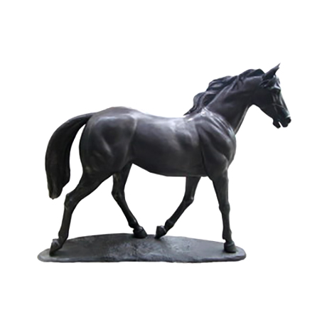 SRB705942 Bronze Walking Horse on Base Sculpture Metropolitan Galleries Inc
